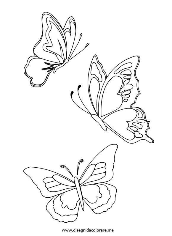 Farfalle da colorare disegni da colorare for Immagini farfalle da ritagliare