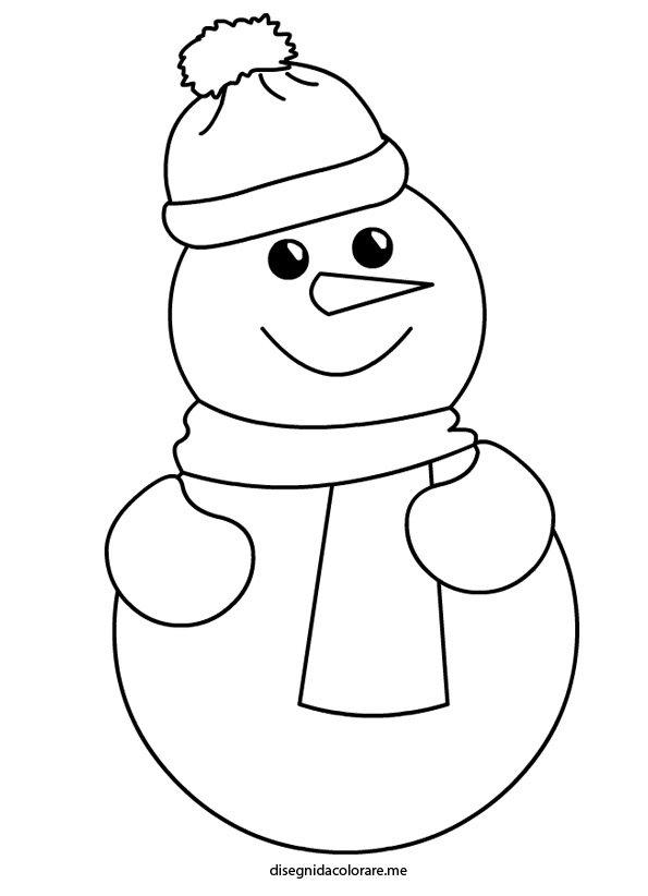 Inverno pupazzo di neve disegni da colorare - Pupazzo di neve pagine da colorare ...