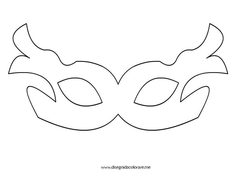 Disegni da colorare il sito dedicato ai disegni da for Mascherina carnevale da colorare