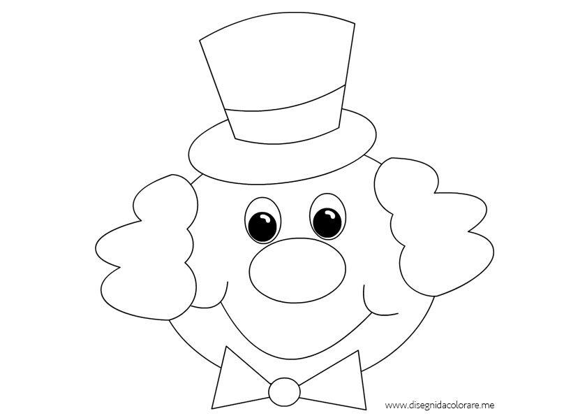 Pagliaccio con cappello da colorare disegni da colorare for Pagliaccio da colorare