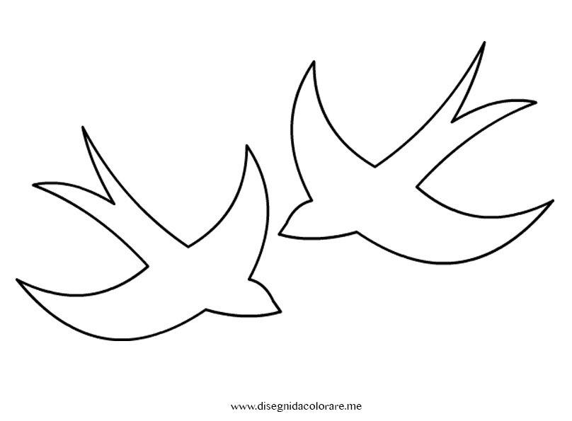 Famoso Rondini: sagome da ritagliare   Disegni da colorare LV12