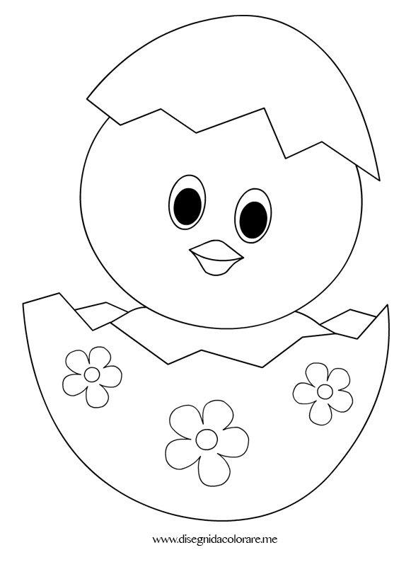 Pulcino di pasqua da colorare disegni da colorare for Coniglio disegno per bambini