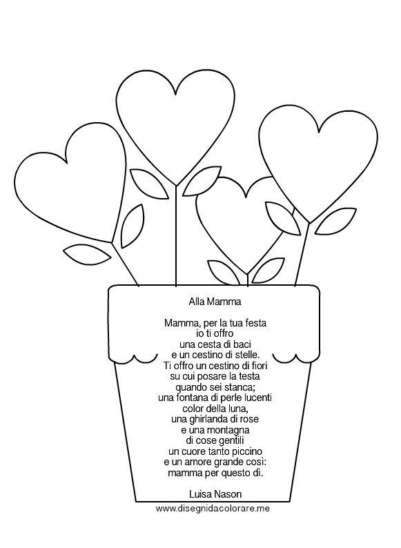 Favoloso Poesia per la festa della mamma | Disegni da colorare OD84