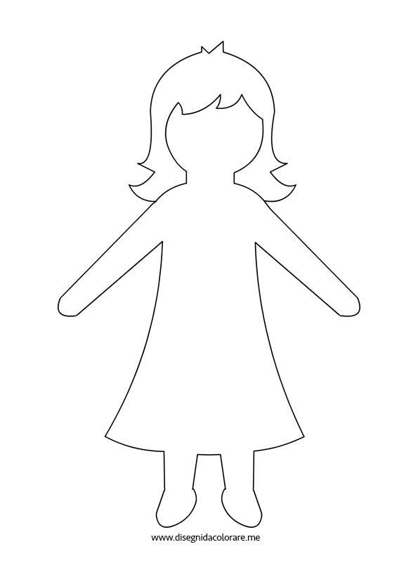 Sagoma bambina disegni da colorare for Disegno bambina da colorare