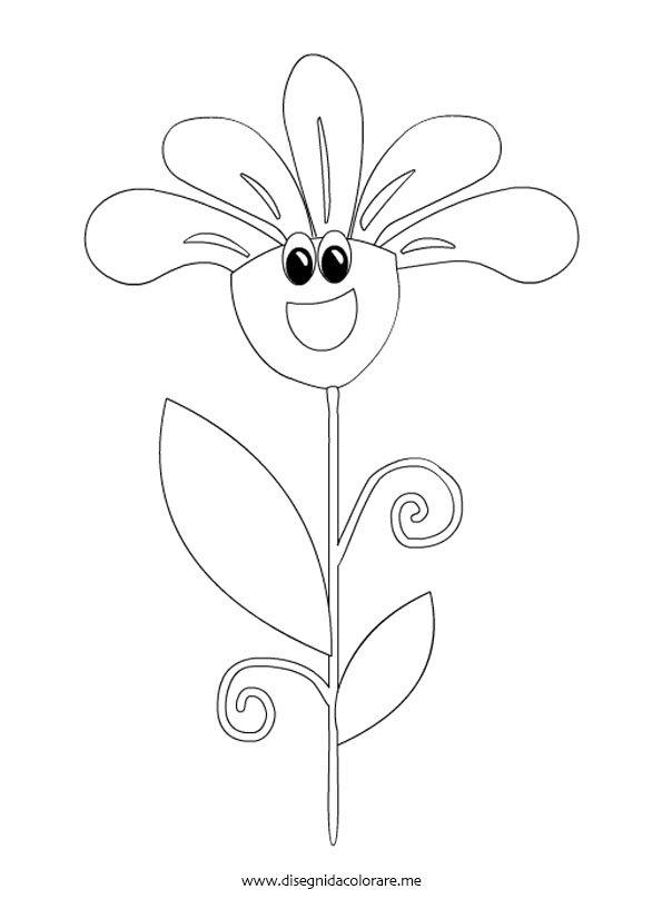 Fiore animato da colorare disegni da colorare for Disegno vaso da colorare