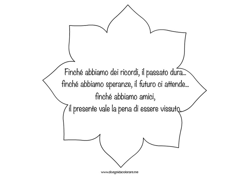 Super Frase sull'amicizia da stampare | Disegni da colorare PP29