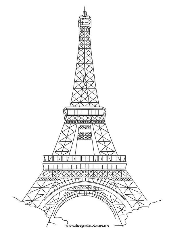 Torre Eiffel disegno | Disegni da colorare