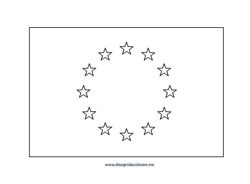 Bandiera dell 39 europa disegni da colorare - Disegni in bianco per la colorazione ...