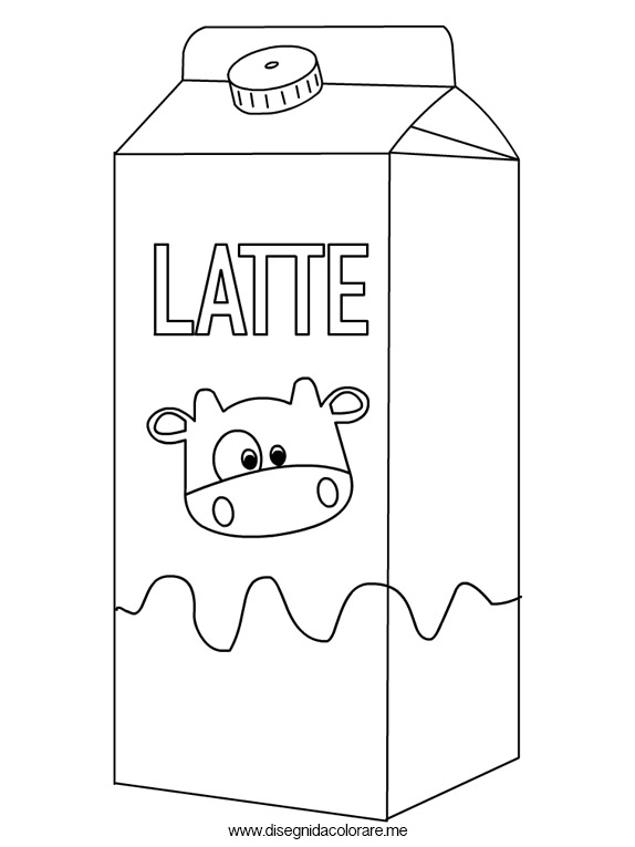 Latte – Disegni da colorare | Disegni da colorare