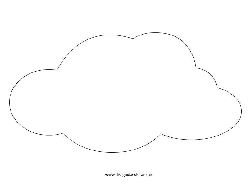 disegno nuvola disegni da colorare