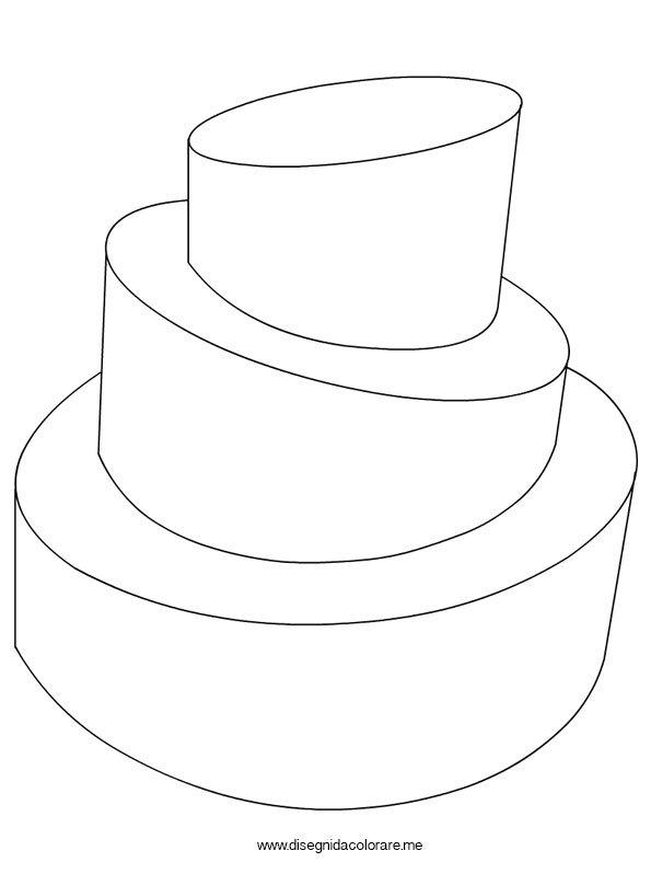 Disegno torta a tre piani disegni da colorare for Disegni di piani di appartamento