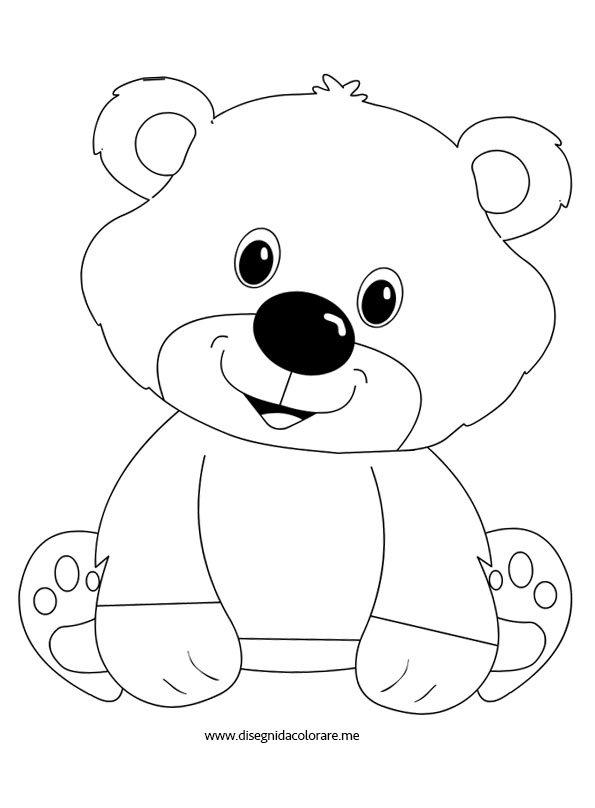 disegni per bambini orsetto da colorare disegni da