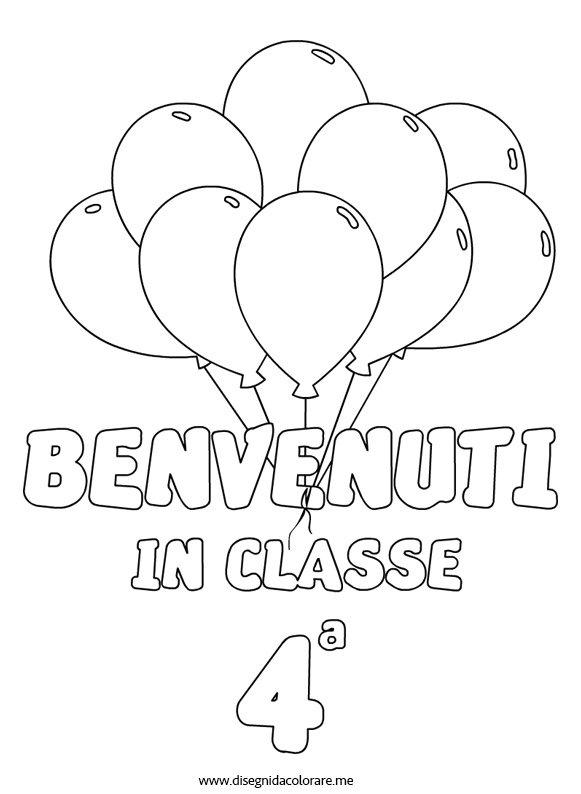 Ben noto Benvenuti in classe quarta | Disegni da colorare BI21