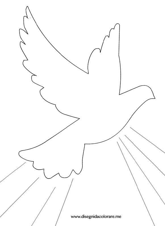Eccezionale Colomba Spirito Santo da colorare | Disegni da colorare LC77
