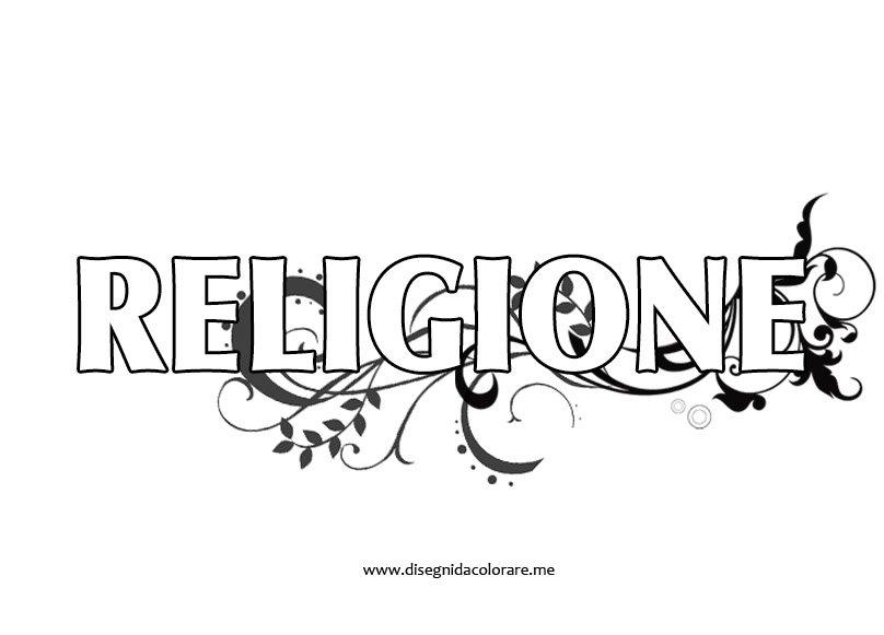 Favorito Copertina religione | Disegni da colorare DZ23