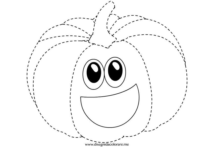 Zucca tratteggio disegni da colorare - Disegni di zucche ...