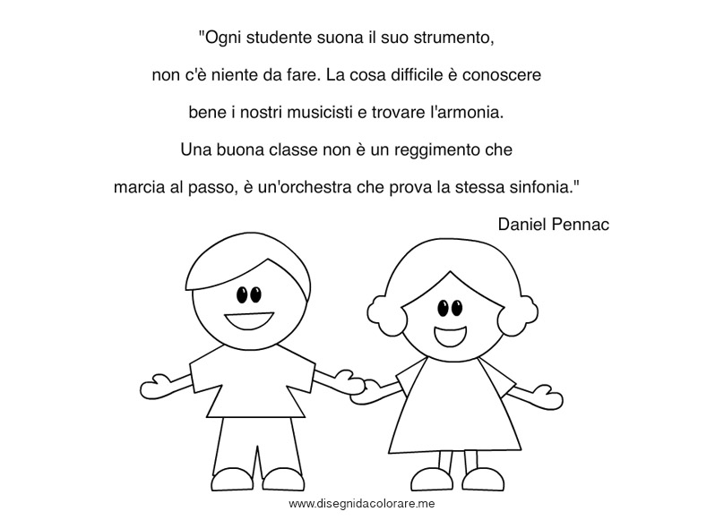 Connu Frase di Daniel Pennac | Disegni da colorare PN27