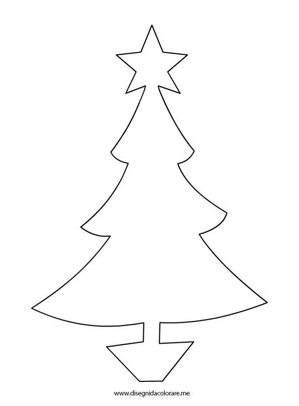 Sagoma albero natale disegni da colorare for Albero natale gonfiabile