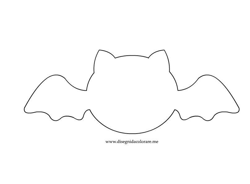 Sagoma pipistrello disegni da colorare - Contorno immagine di pipistrello ...