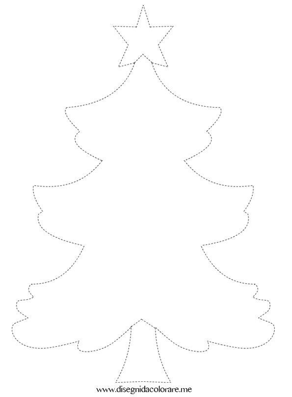 Pregrafismo albero di natale disegni da colorare for Albero natale gonfiabile