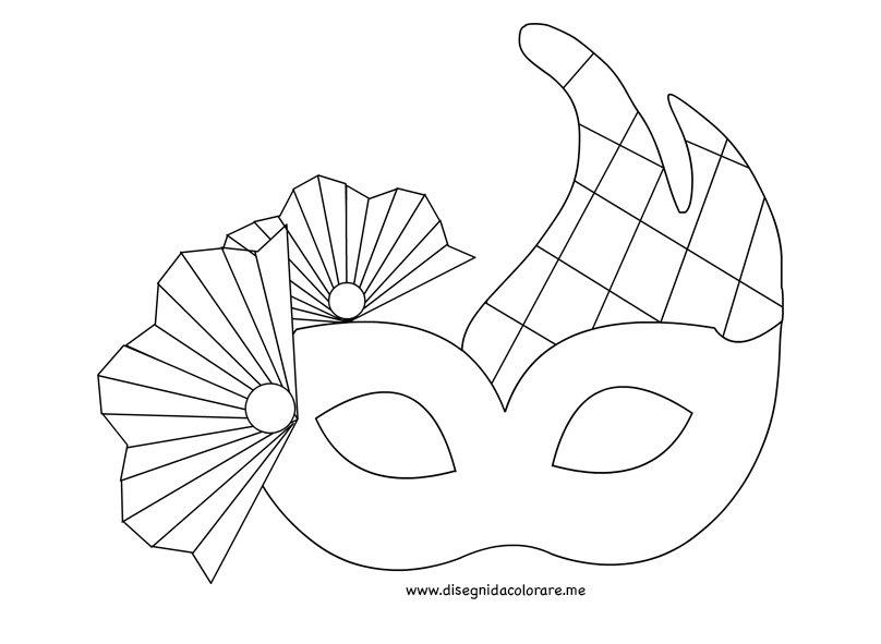 Maschera veneziana da colorare disegni da colorare for Immagini maschere carnevale da colorare