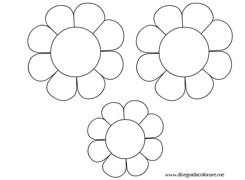 Addobbi primavera fiori disegni da colorare for Disegni da stampare colorare e ritagliare