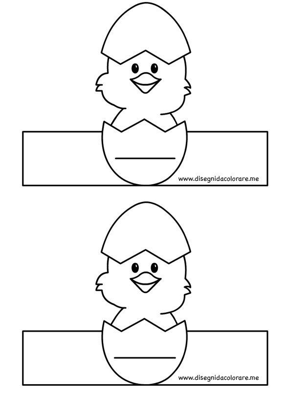 Porta uova con pulcino da stampare disegni da colorare - Porta da colorare ...