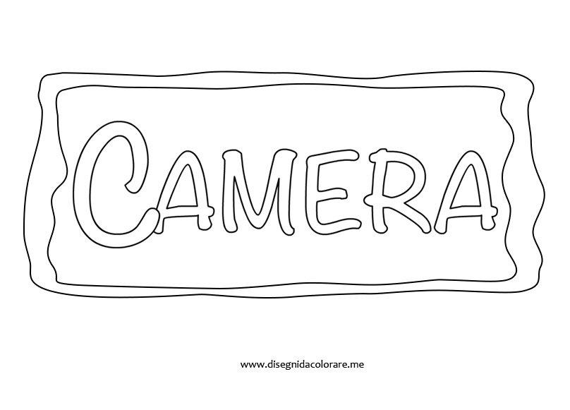 Camera: scritta da stampare