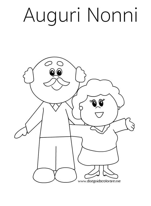 Amato Biglietto di auguri per i nonni | Disegni da colorare DP97