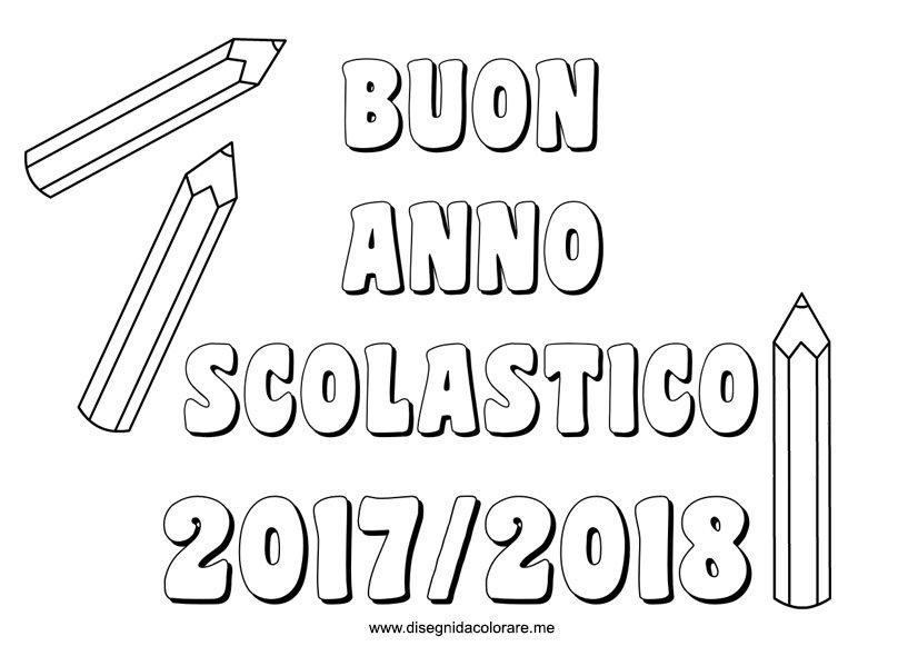 Popolare Scritta Buon Anno Scolastico 2017- 2018 | Disegni da colorare MX67