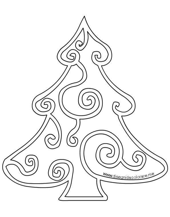 spesso Disegno albero di Natale stilizzato | Disegni da colorare DX32