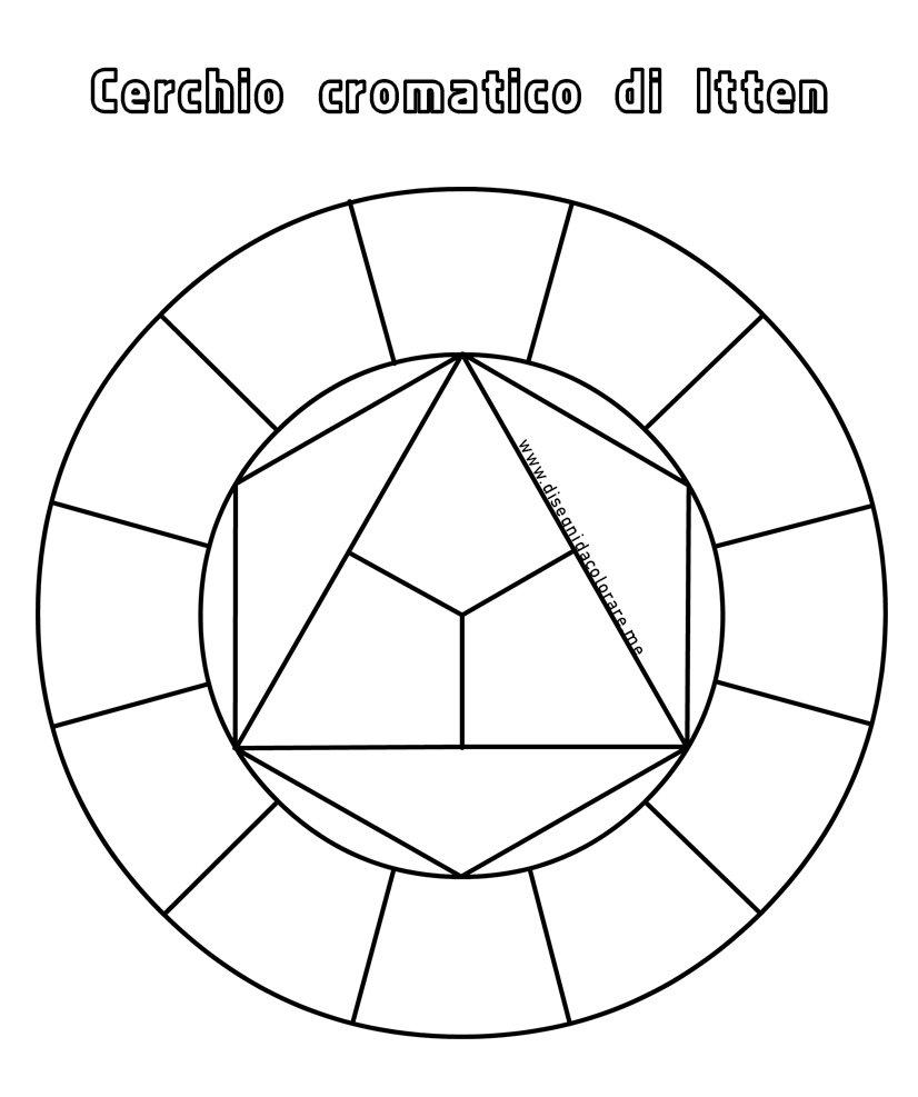 Cerchio Cromatico Di Itten Da Colorare Disegni Da Colorare