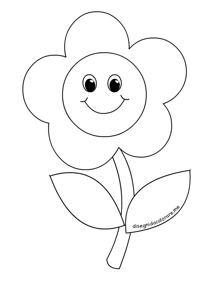 Fiore Sorridente Disegni Per Bambini Disegni Da Colorare