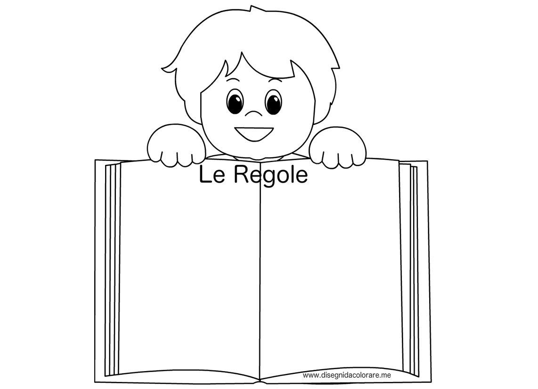 Bambino Con Libro Delle Regole Disegni Da Colorare