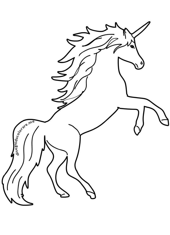 Unicorno disegni per bambini da colorare disegni da colorare for Sole disegno da colorare