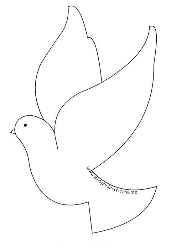 disegno colomba pasqua
