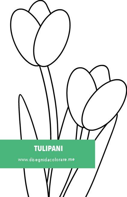 Tulipani Da Colorare Per Bambini.Due Tulipani Disegno Per Bambini Disegni Da Colorare