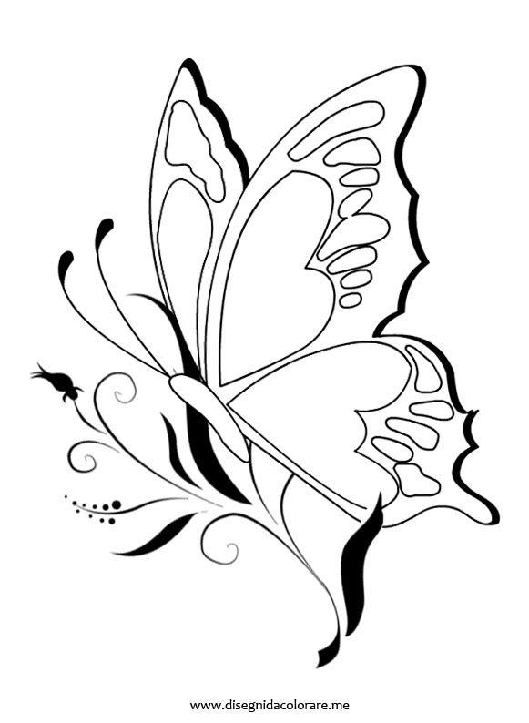 Farfalla sul fiore disegni da colorare for Fiori stilizzati immagini