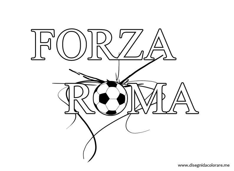 forza roma disegni da colorare