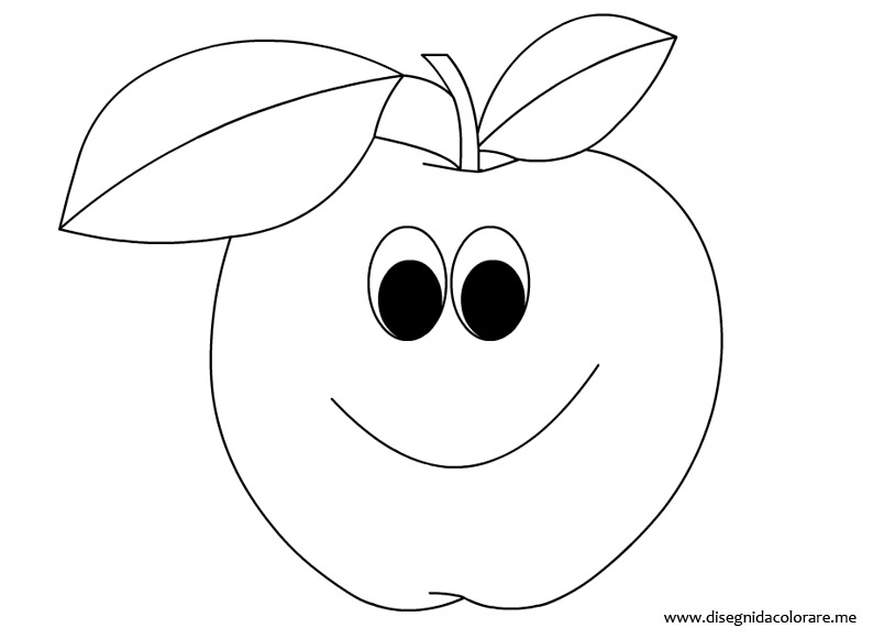 Frutta mela da colorare disegni da colorare for Frutta da colorare e ritagliare