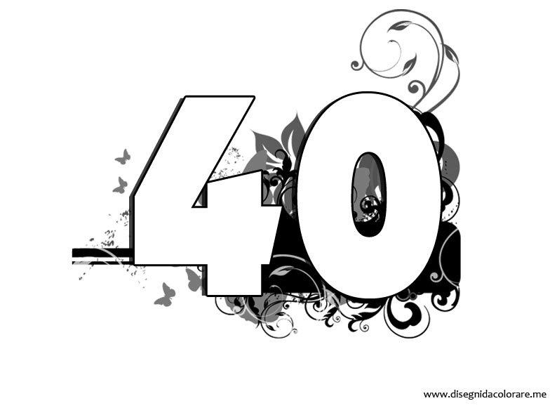 Numero 40 disegni da colorare - Numeri per tavoli da stampare ...