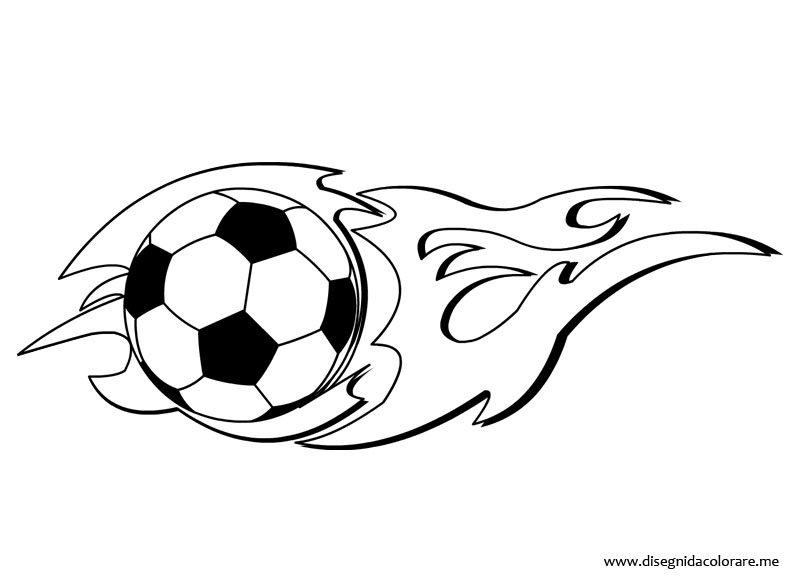 Pallone calcio con fiamma da colorare disegni da colorare for Calciatori da colorare per bambini