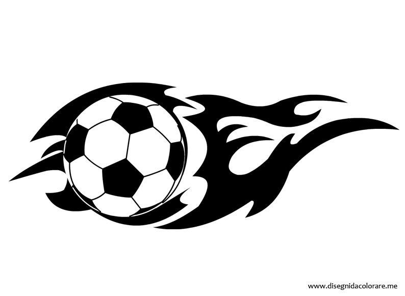 Pallone calcio con fiamma disegni da colorare for Disegni da colorare calcio