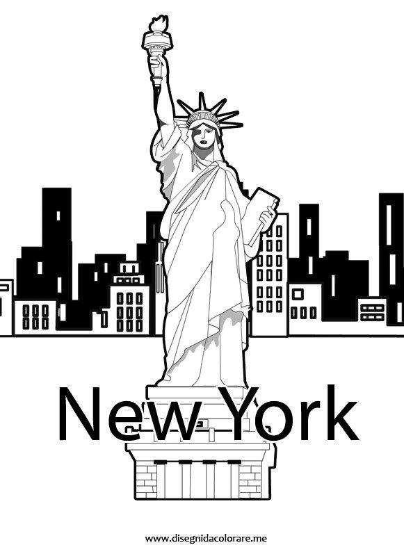 New york clip art disegni da colorare for Disegni della roma da colorare