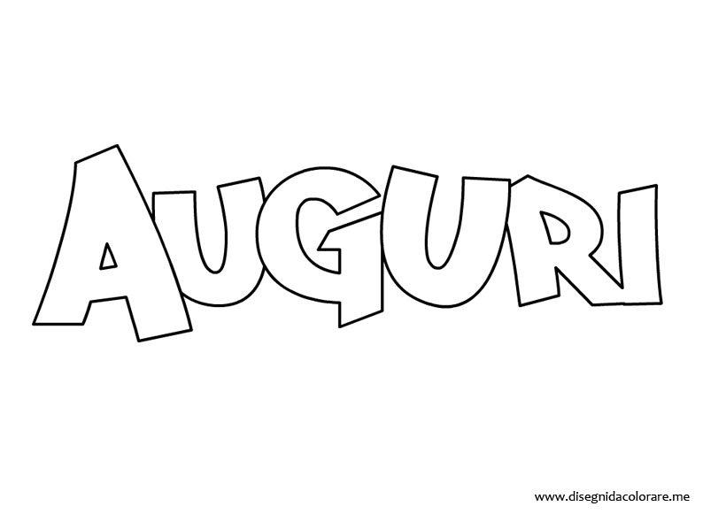 Auguri Matrimonio In Spagnolo : Scritta auguri da colorare disegni