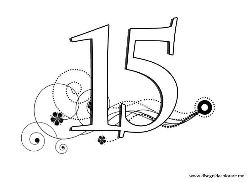 Numeri da stampare 15 disegni da colorare - Numeri per tavoli da stampare ...