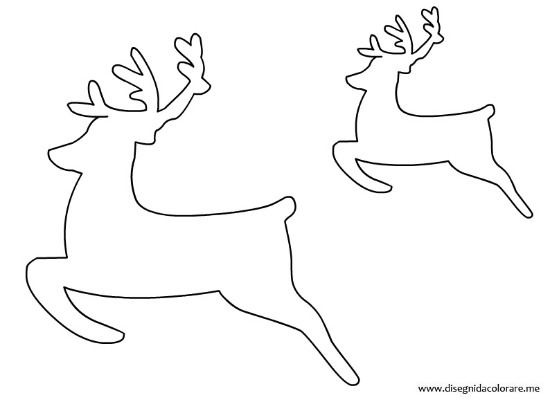 Sagome renne disegni da colorare for Disegni di natale facili per bambini