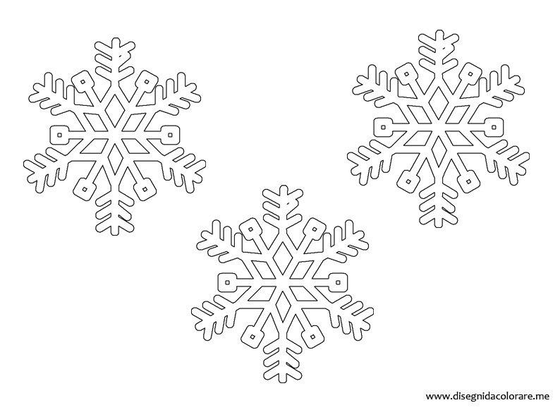Fiocchi di neve disegni da colorare - Disegnare bagno gratis ...