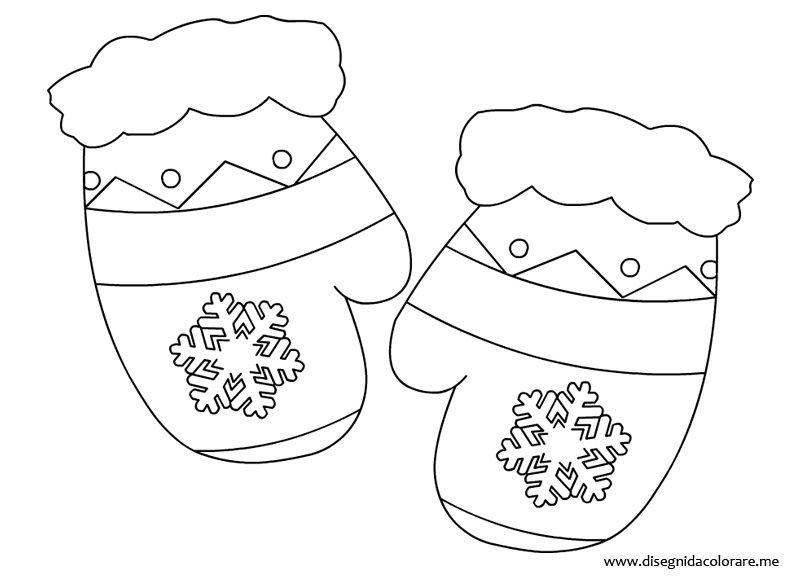 Guanti invernali disegni da colorare - Modelli di colorazione per bambini ...