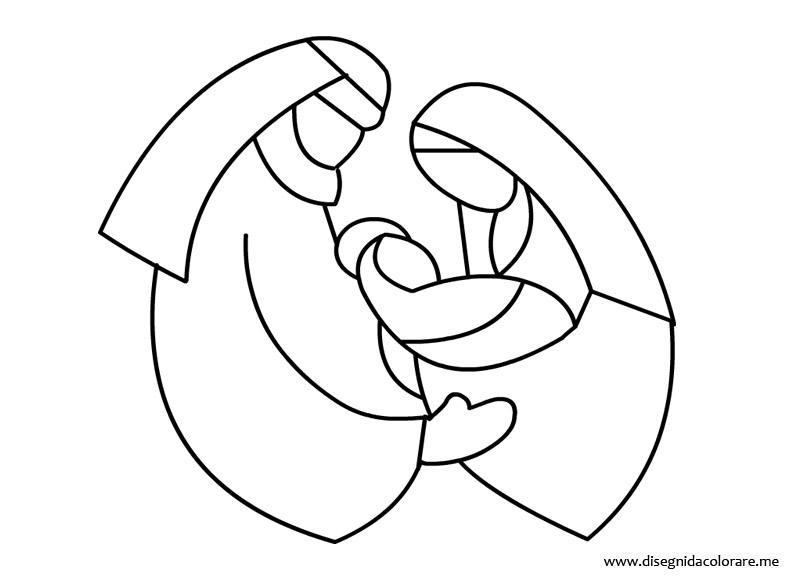 Disegno nativit da colorare disegni da colorare for Disegno vaso da colorare